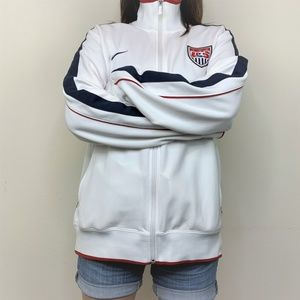 Nike Red White & Blue USA Soccer Full Zip Jacket